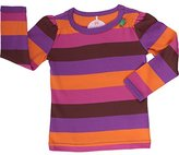 Fred's World by Green Cotton Girl's Block Stripe T Girl Striped Long Sleeve Top