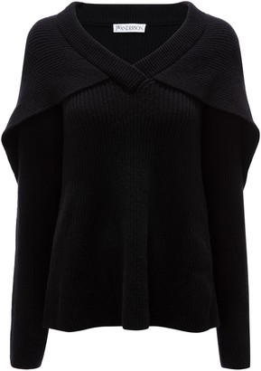 J.W.Anderson Ribbed Cape Jumper