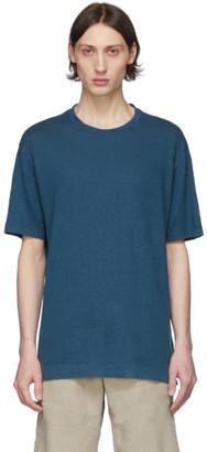 Ermenegildo Zegna Blue Linen T-Shirt