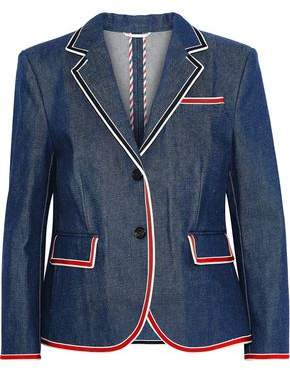 Thom Browne Grosgrain-trimmed Denim Blazer