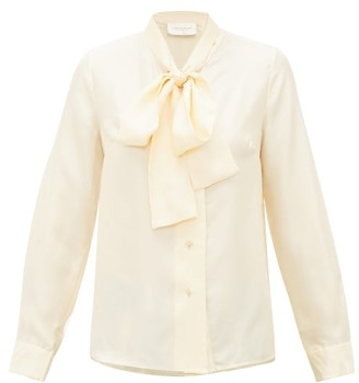 La Prestic Ouiston Cipriani Silk-faille Pussybow Blouse - Womens - Ivory