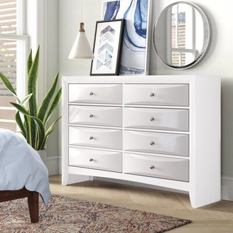 ACME Furniture Ireland 8 Drawer Double Dresser Color: White
