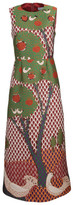 RED Valentino Tree Print Flared Dress