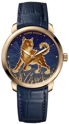 Ulysse Nardin Rose Gold Classico Year of the Dog Automatic Watch 40mm
