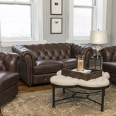 Bay Isle Home Davlos Stationary Leather Loveseat