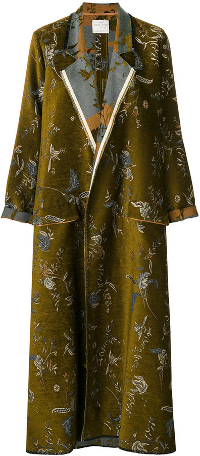 Forte Forte embroidered draped coat