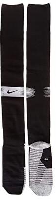 Nike NikeGrip Strike Light Over-the-Calf - WC (Black/White/Black) Crew Cut Socks Shoes