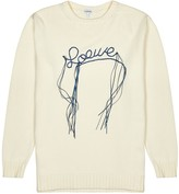 Loewe Off-white Logo-embroidered Cotton Jumper
