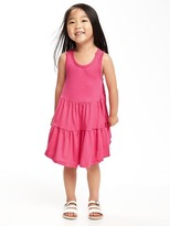 Old Navy Tiered Crochet-Strap Swing Dress for Toddler Girls