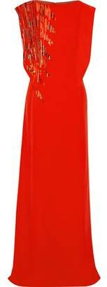 Lanvin Sequin-embellished Silk Gown