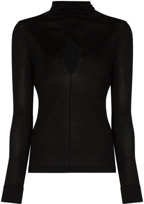 Tom Ford Keyhole Front High-Necked Jumper