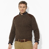 Polo Ralph Lauren Big & Tall Suede Patch Crewneck Sweater