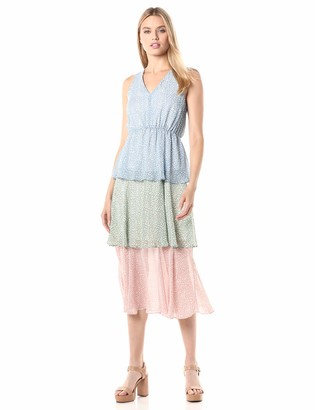 Sam Edelman Women's Colored Sleeveless Tired Maxi Dress