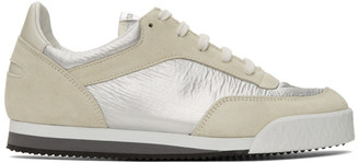 Comme des Garcons Off-White and Silver Spalwart Edition Pitch Low Sneakers