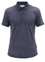 Orlebar Brown Sebastian Tailored-fit Slubbed-linen Polo Shirt - Mens - Navy