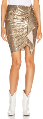 IRO Saria Skirt in Gold | FWRD