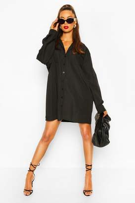 boohoo Oversized Pocket Shirt Dress