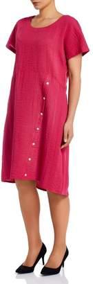 M&Co VIZ-A-VIZ shell button detail dress