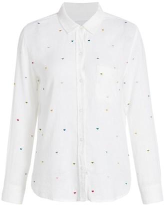 Rails Charli Embroidered Heart Button-Down Shirt
