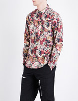 Undercover Floral-print cotton shirt