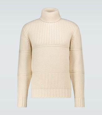 Officine Generale Multi-stitch turtleneck sweater