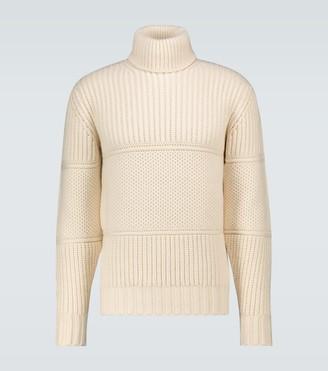 Officine Generale Multi-stitched turtleneck sweater