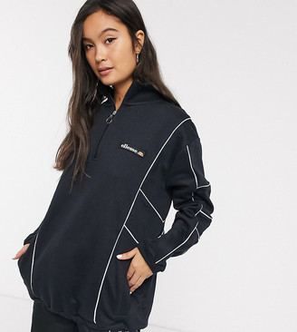 Ellesse tracksuit jacket with half zip and reflective piping two-piece