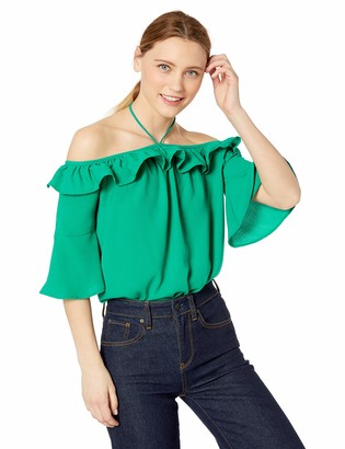 Jack by BB Dakota Womens Haltered State Ruffle top