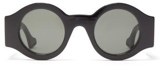 Gucci GG-hardware Round Acetate Sunglasses - Womens - Black