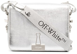 Off-White Foldback-Clip Detail Crossbody Bag