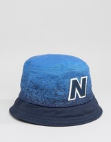 New Balance Graduated Bucket Hat In Navy