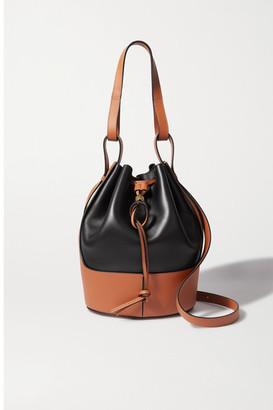 Loewe Balloon Small Two-tone Leather Bucket Bag - Black