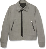 Wooyoungmi - Houndstooth Mohair And Wool-blend Blouson Jacket