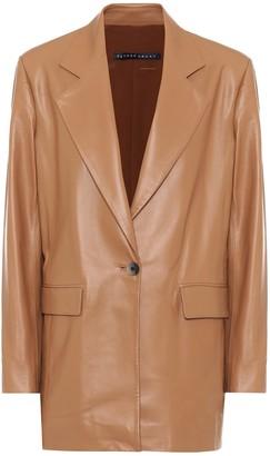 Zeynep Arã§Ay Single-breasted leather blazer