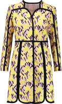 Giambattista Valli Crepe-trimmed embroidered cotton-blend coat