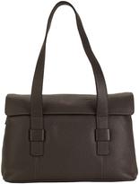Hadaki Shale Gray Hannah's Leather Messenger Bag
