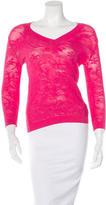 Malo Lace V- Neck Sweater