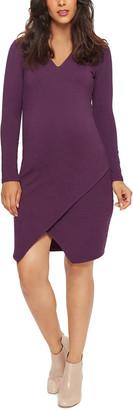 Stowaway Collection Maternity Slit Wrap Dress