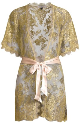 Gilda And Pearl Harlow Metallic Lace Kimono