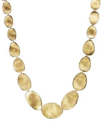 """Marco Bicego 18K Yellow Gold Engraved Lunaria Necklace, 16"""""""