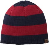 Sperry Men's Breton Striped Beanie with Leather Tab