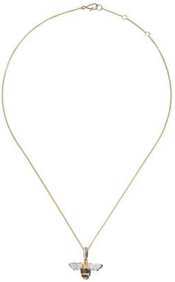 Annoushka 18kt yellow gold Mythology diamond bumble bee necklace