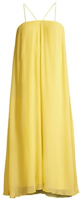 Paloma Pleated Chiffon Trapeze Dress