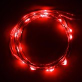 """Eastchina® Newest Version Battery Powered Micro Led 20 Super Bright Led Lights on 7 Ft with 4"""" Spacing Long Silver Color Ultra Thin String Wire Starry Starry Lights Fairy Lights Ultra Thin String Wire Potted Plants LED Lights Strings for Valentine's Day Birthday Festival Kid's LED Gift Xmas Tree Lights,diy LED Starry Lights with Aa Battery Operated & Ip65 Water Proof - Red Colour"""
