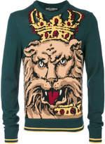 Dolce & Gabbana intarsia knit lion king jumper