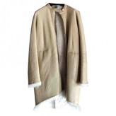 The Row Beige Shearling Coats