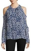Ramy Brook Norma Cold-Shoulder Silk Top