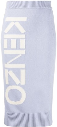 Kenzo Logo Detail Pencil Skirt