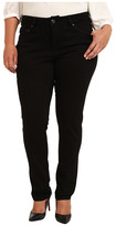 Jag Jeans Plus Size Piper Narrow in Black on Black