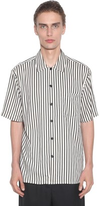 Ami Alexandre Mattiussi Striped Viscose Short Sleeves Shirt